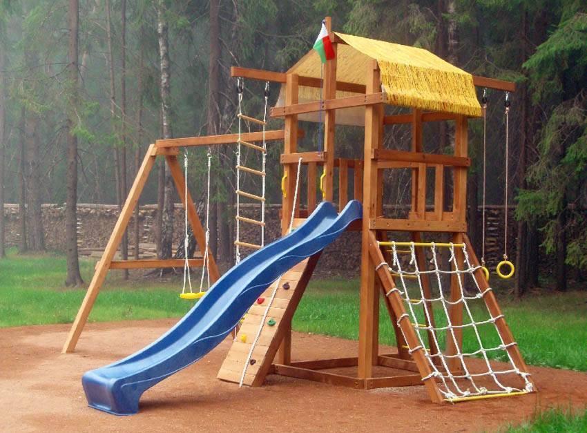 Детская площадка из дерева своими руками фото