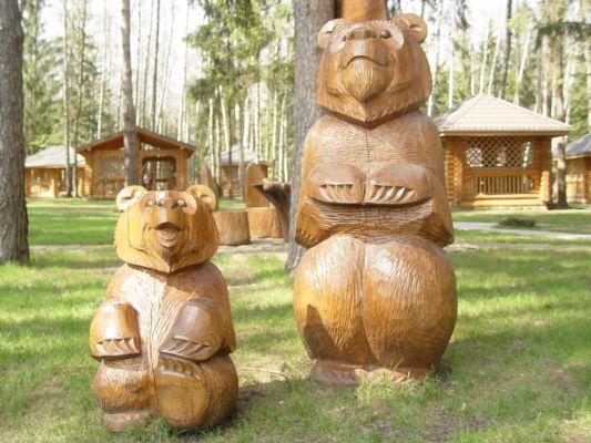 Садовая скульптура из дерева своими руками